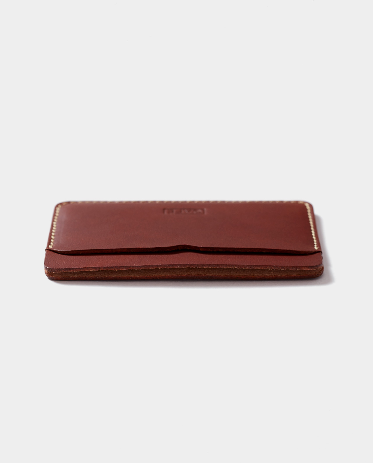 leather card holder brown for cards and bills