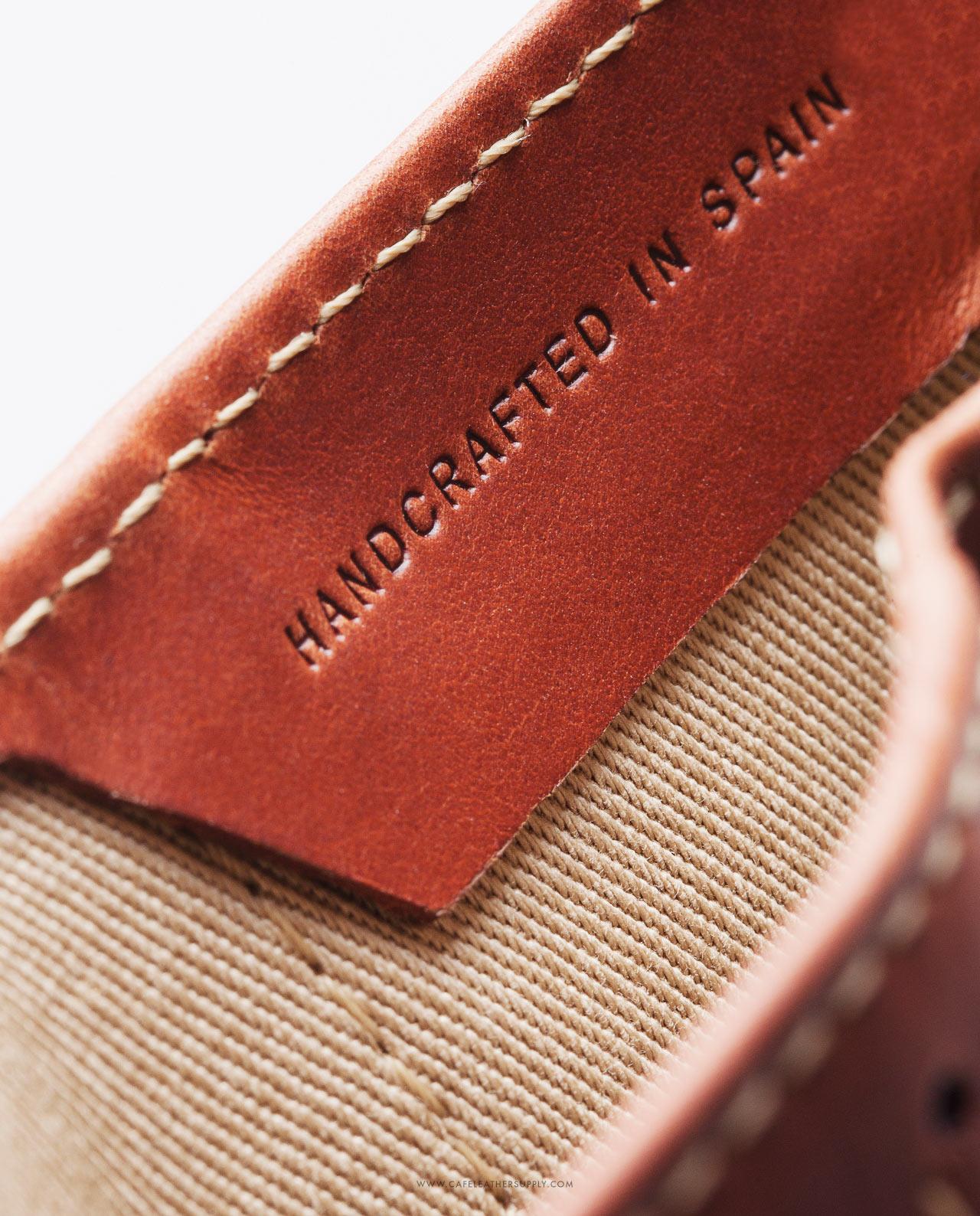 Bolsillo para monedas de la cartera de piel costa rica roasted. Leather pouch for coins.