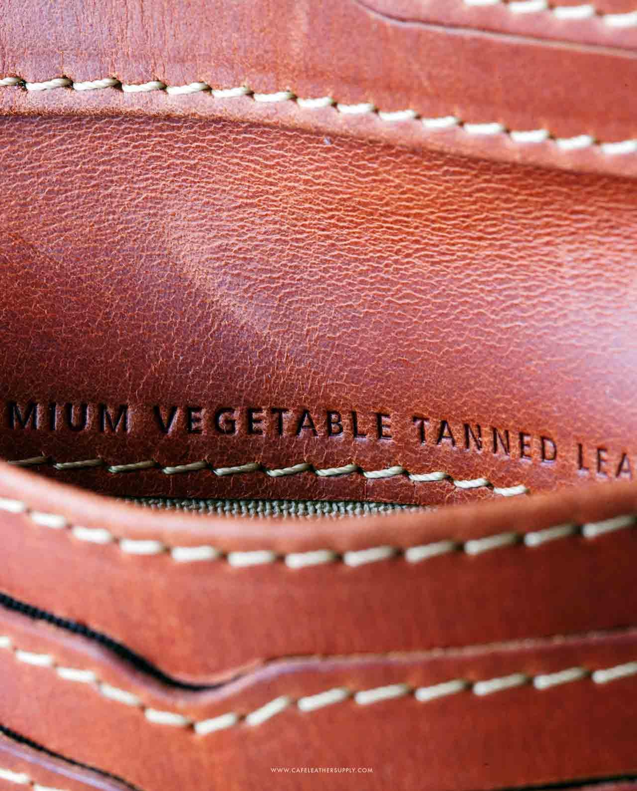 Bolsillo de la cartera de piel costa rica roasted. Leather pouch.