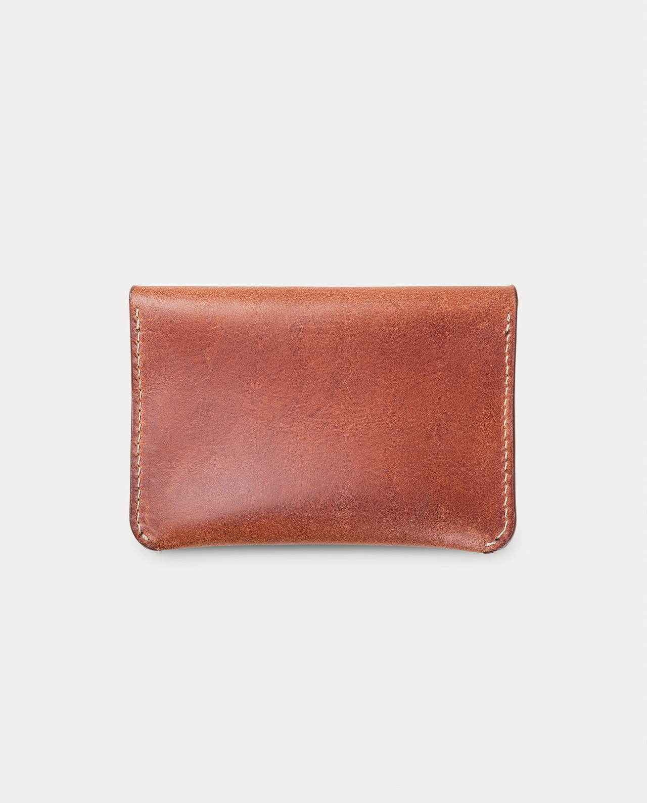 flap wallet brown for coins, cards and bills