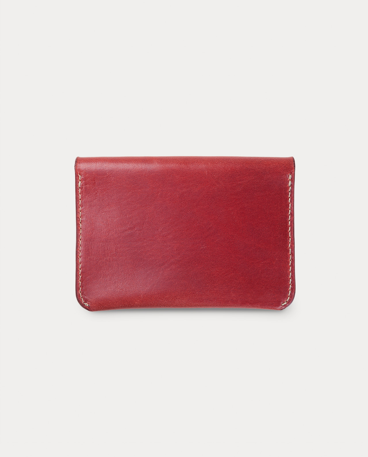 flap wallet red for coins, cards and bills