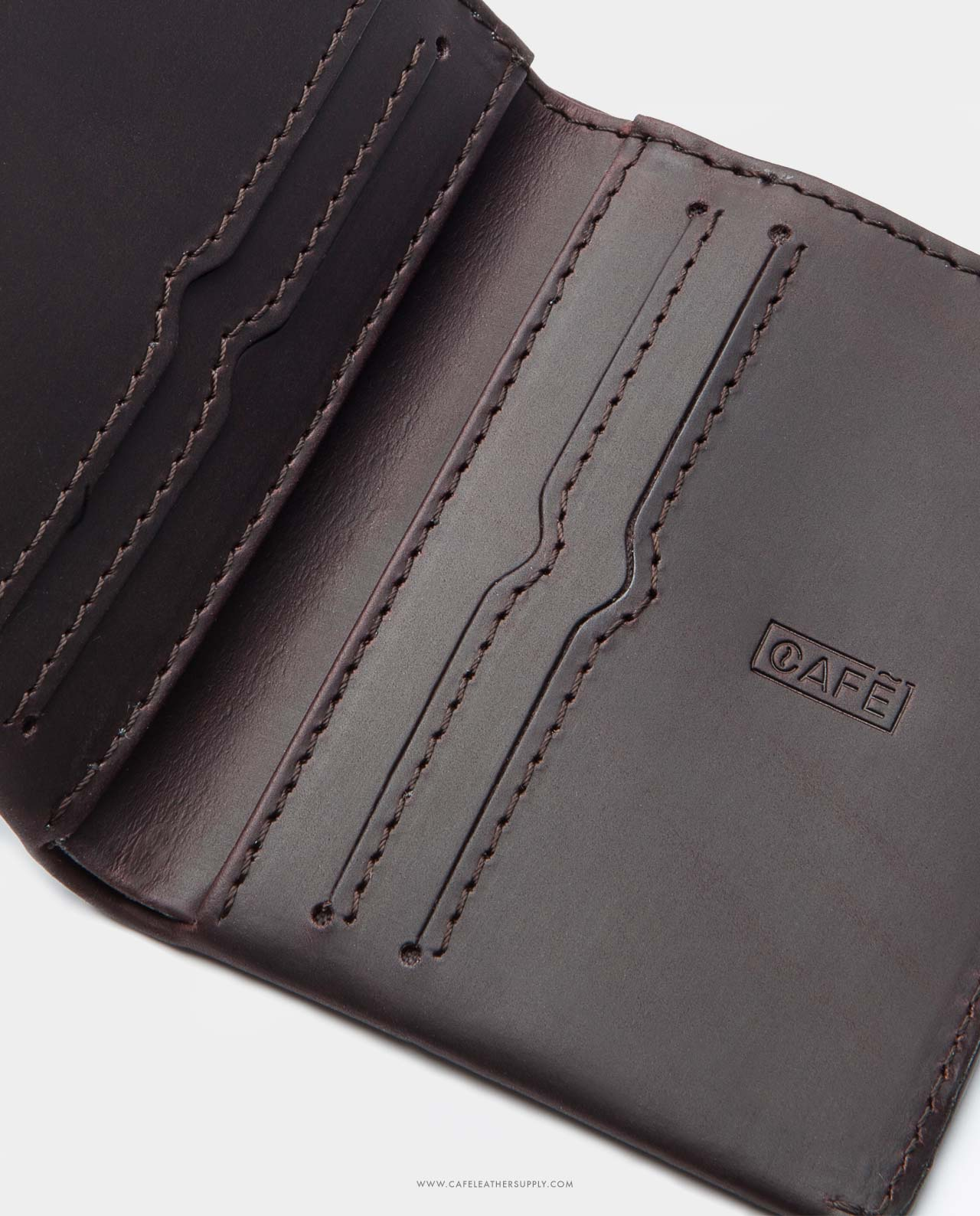 leather wallet slim black for coins and bills