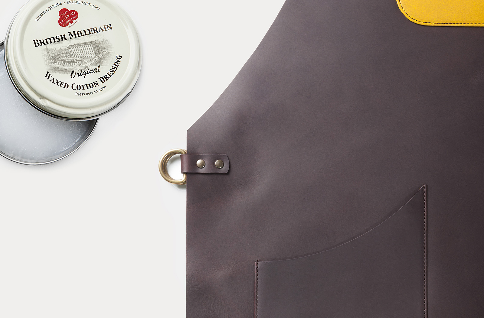 lull leather apron handcrafted in spain