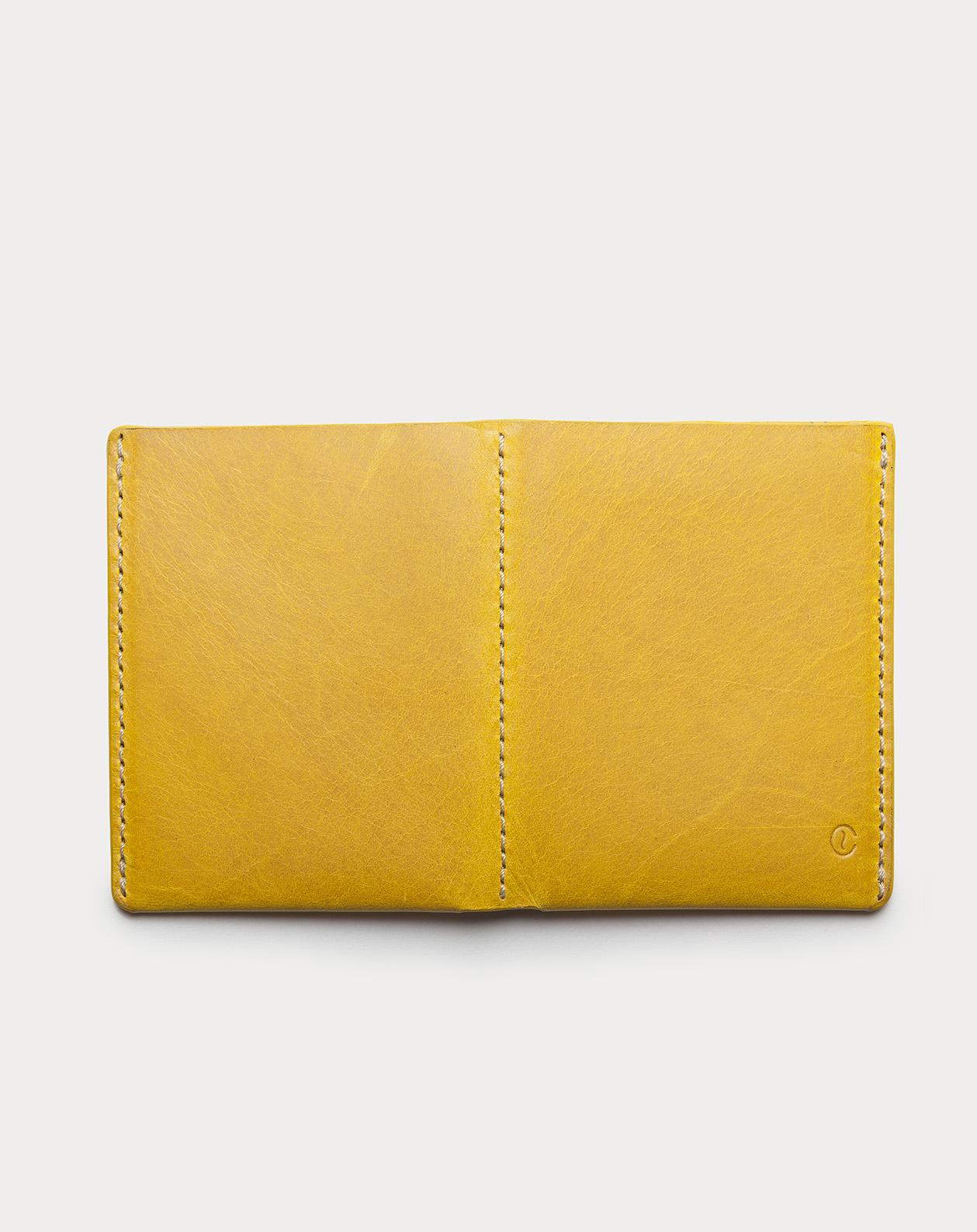 Ultra Slim Leather Wallet Jamaica Honey Mustard 2
