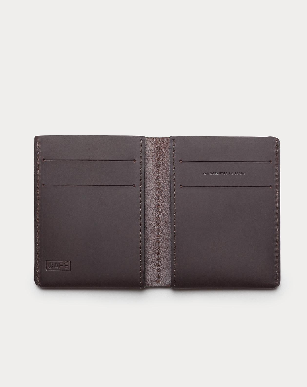 slim wallet black for cards and bills