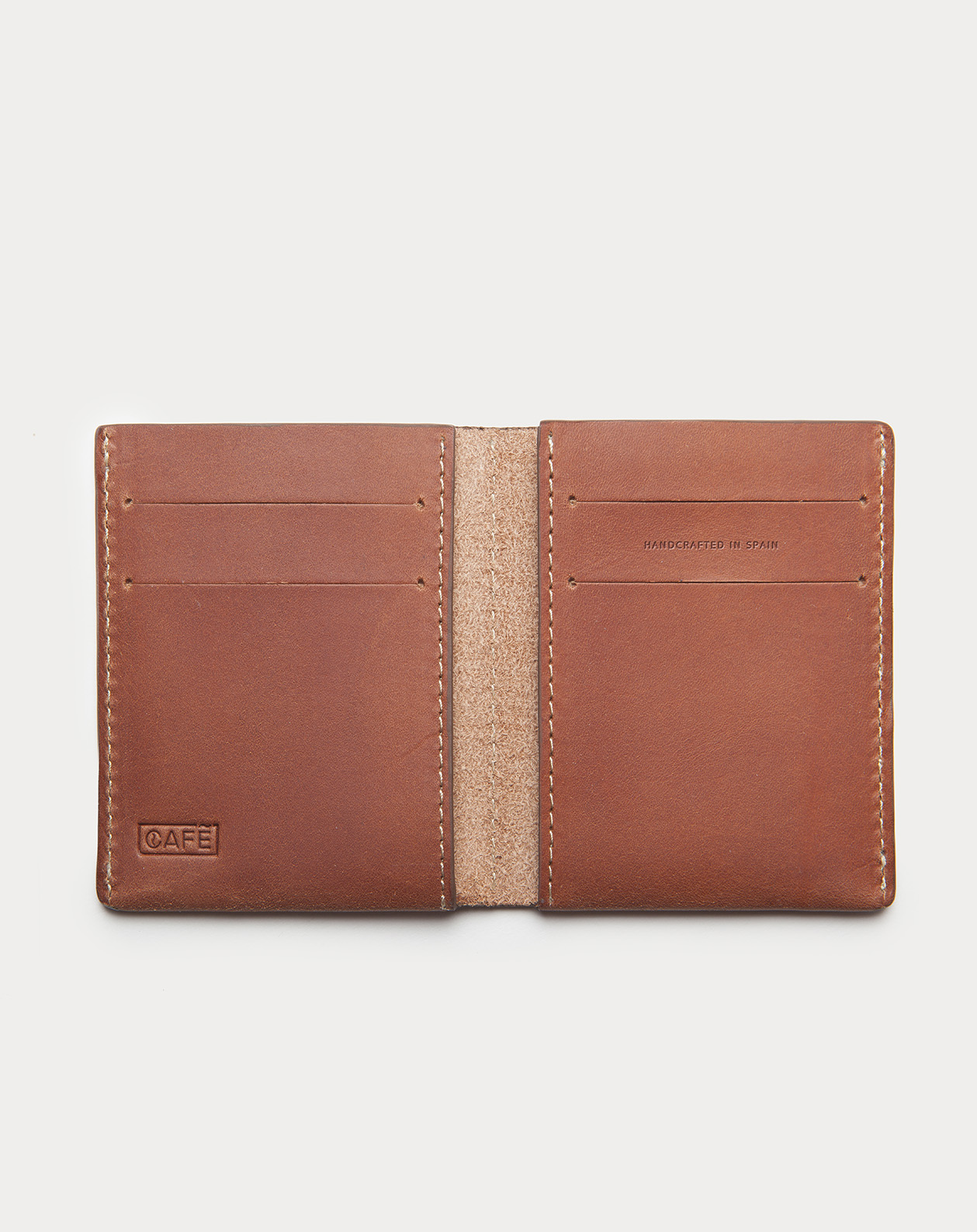 slim wallet brown for cards and bills