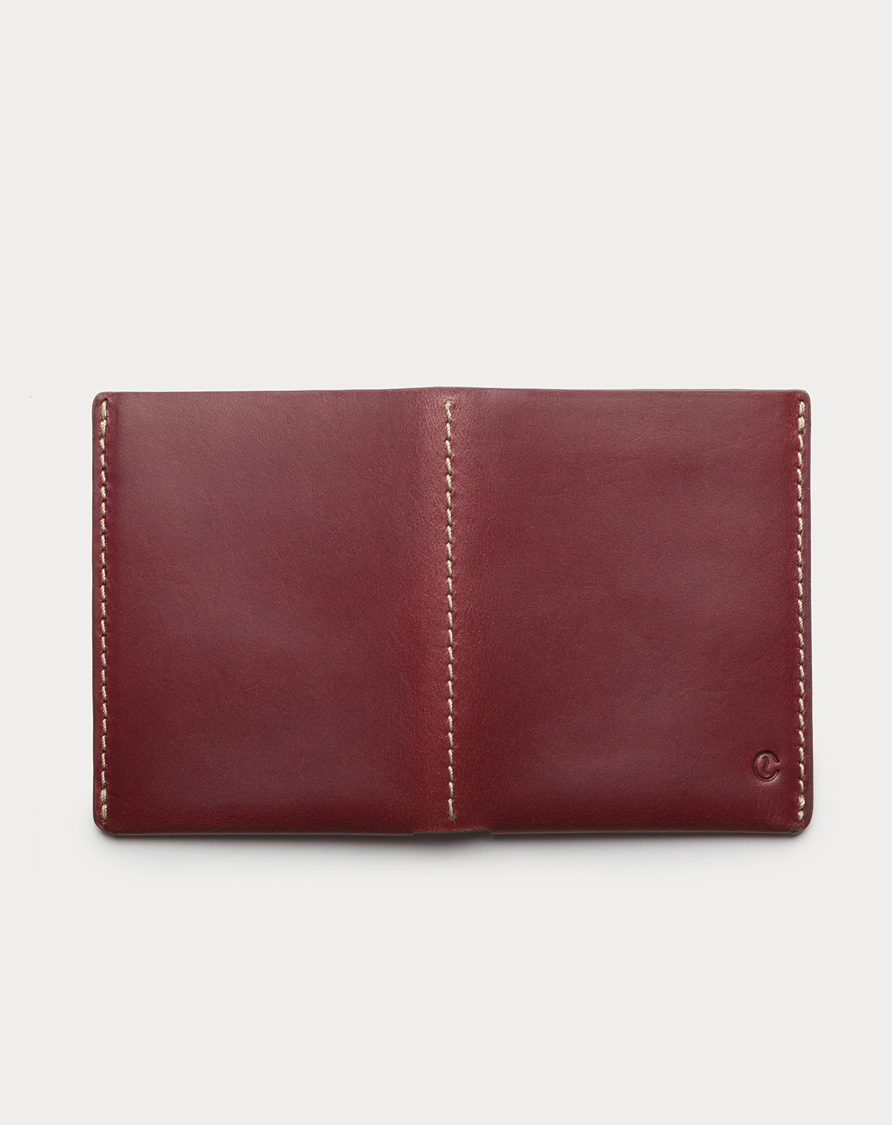 slim wallet red for cards and bills
