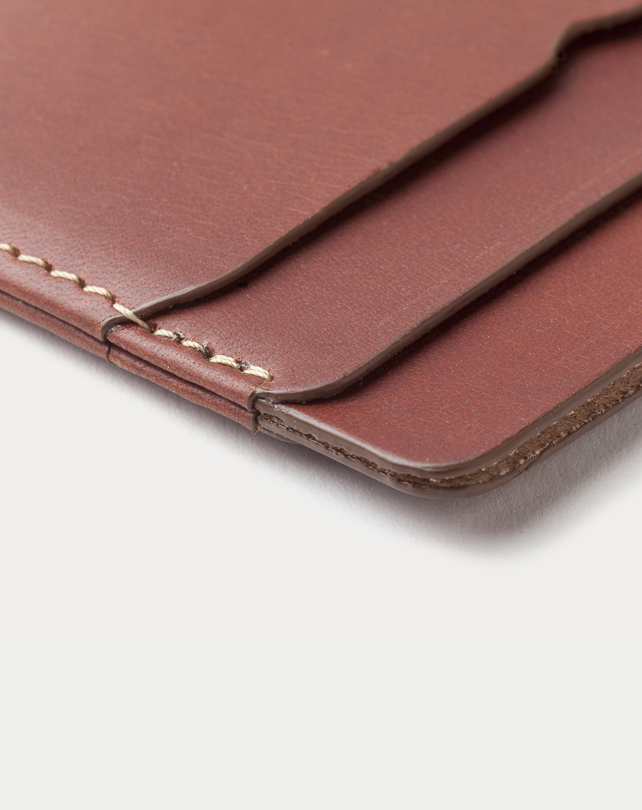 card holder brown for cards and bills