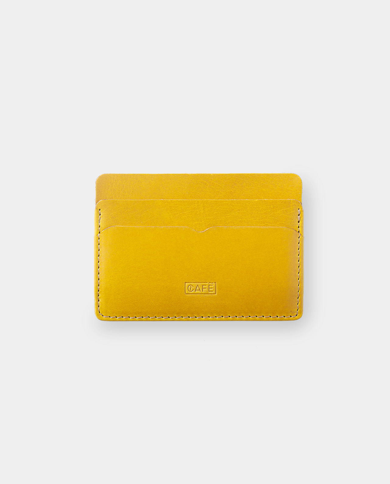 Leather card holder Panamá+ Honey Mustard