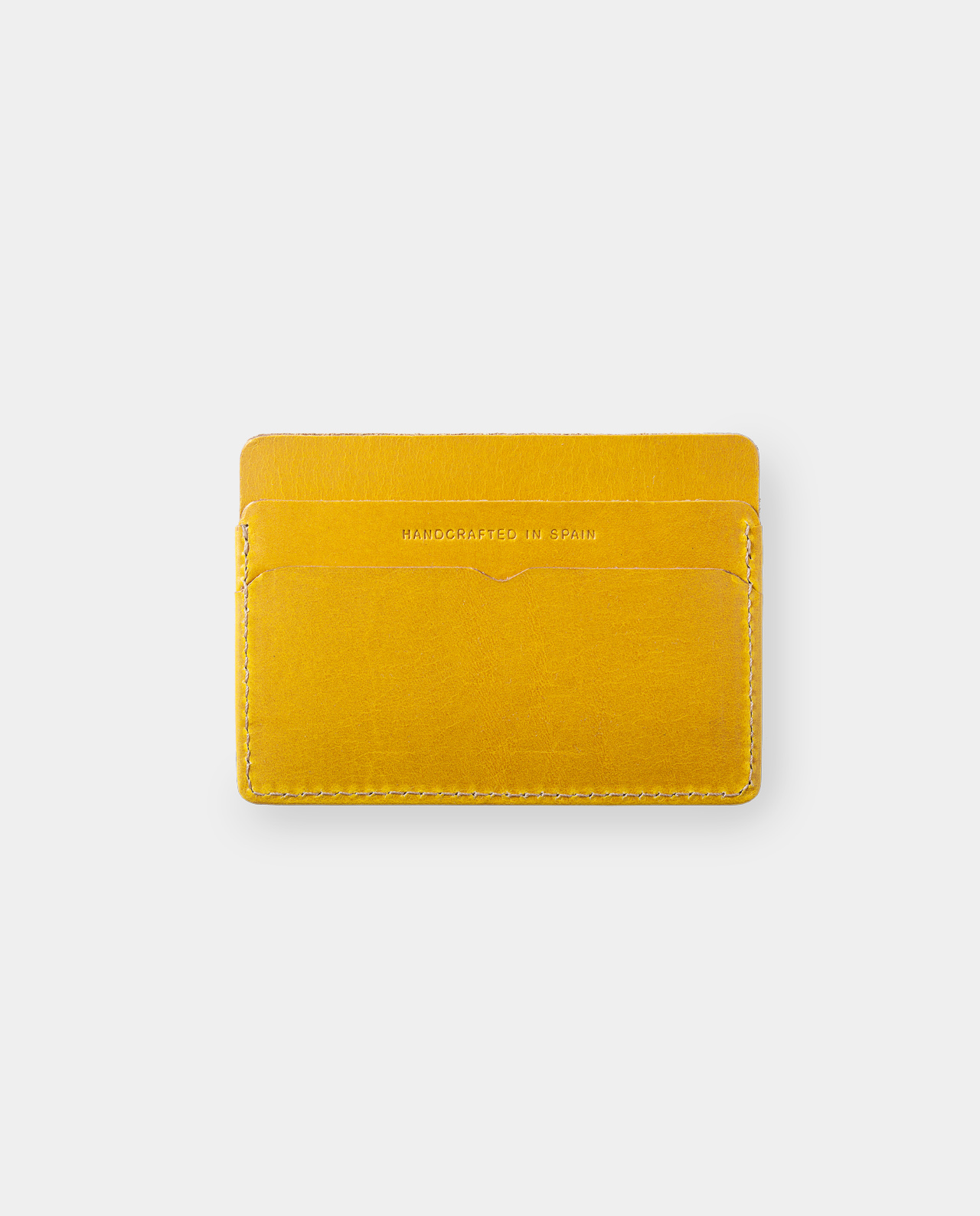 Leather card holder Panamá+ Honey Mustard 2