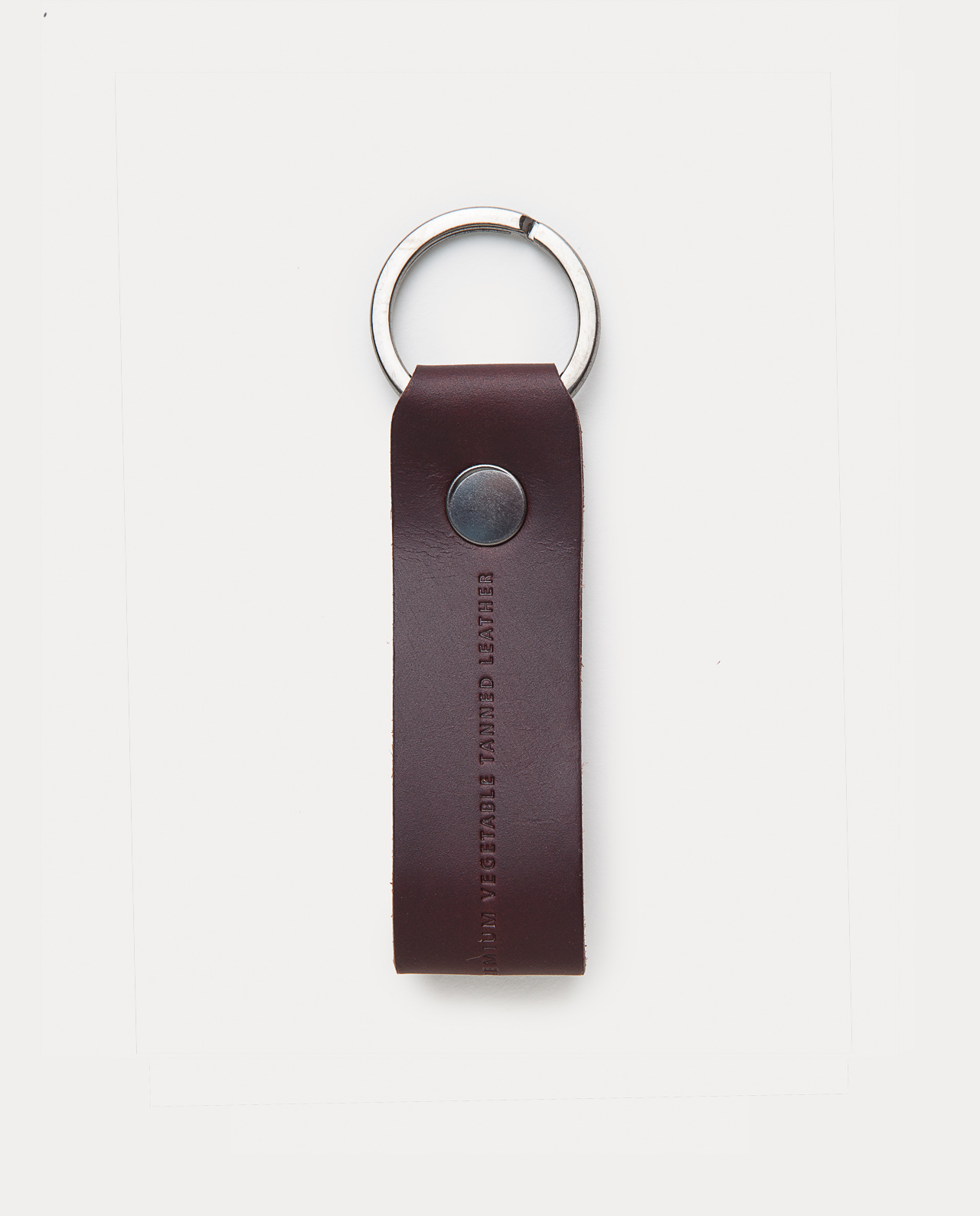 leather keychain black handcrafted in Spain
