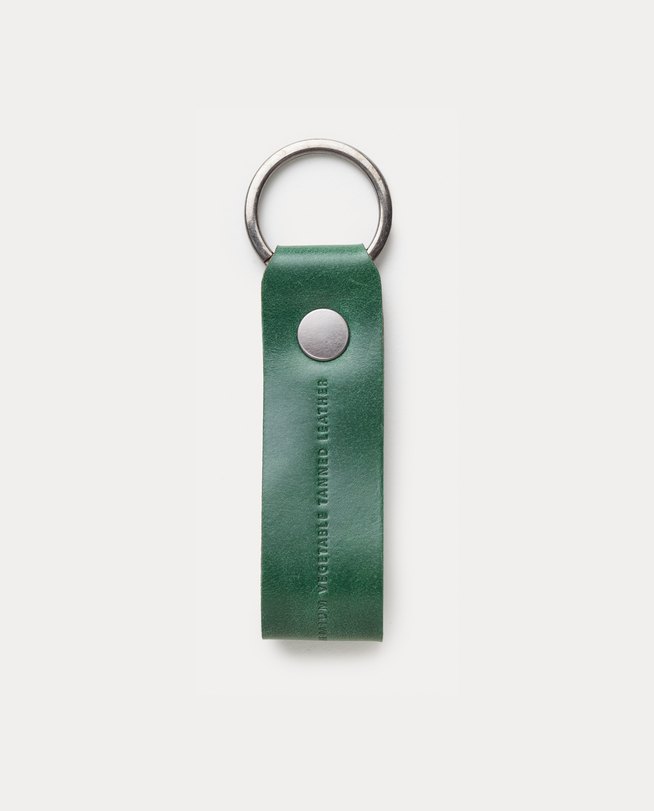 leather keychain green handcrafted in Spain