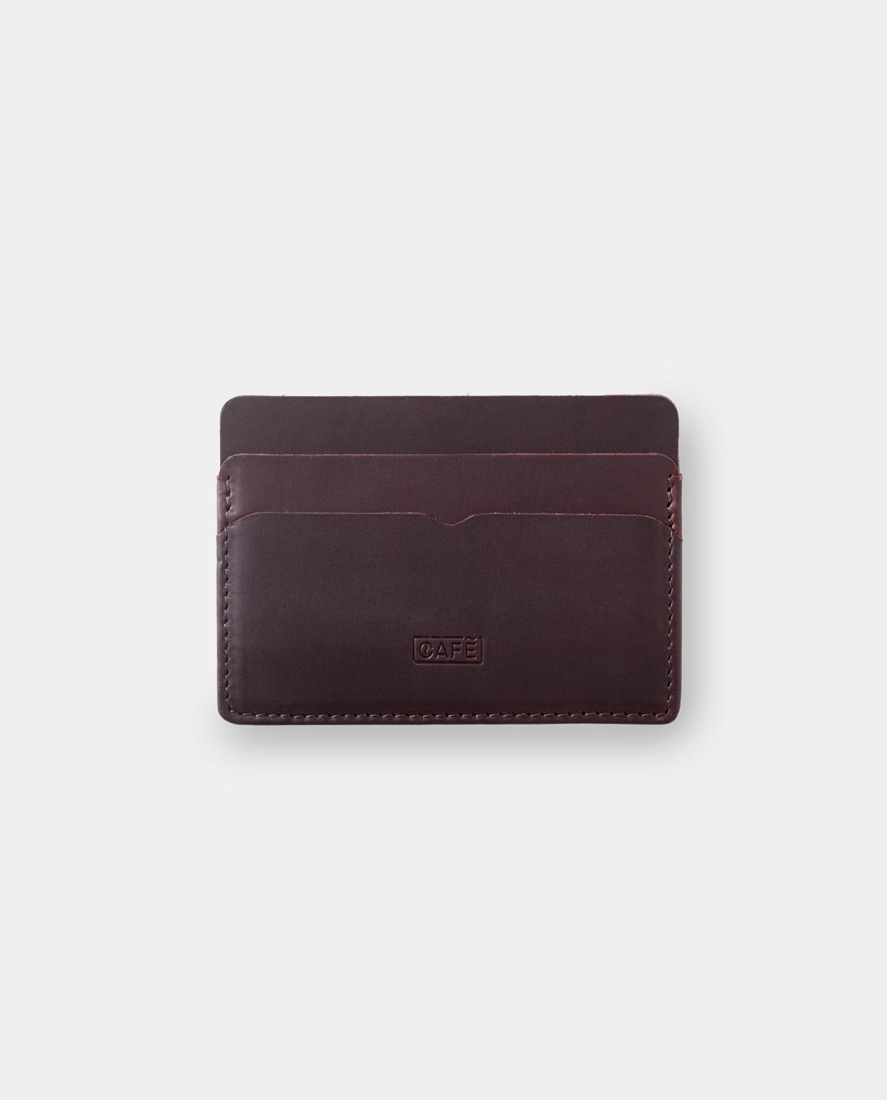 tarjetero de piel marrón para billetes y tarjetas