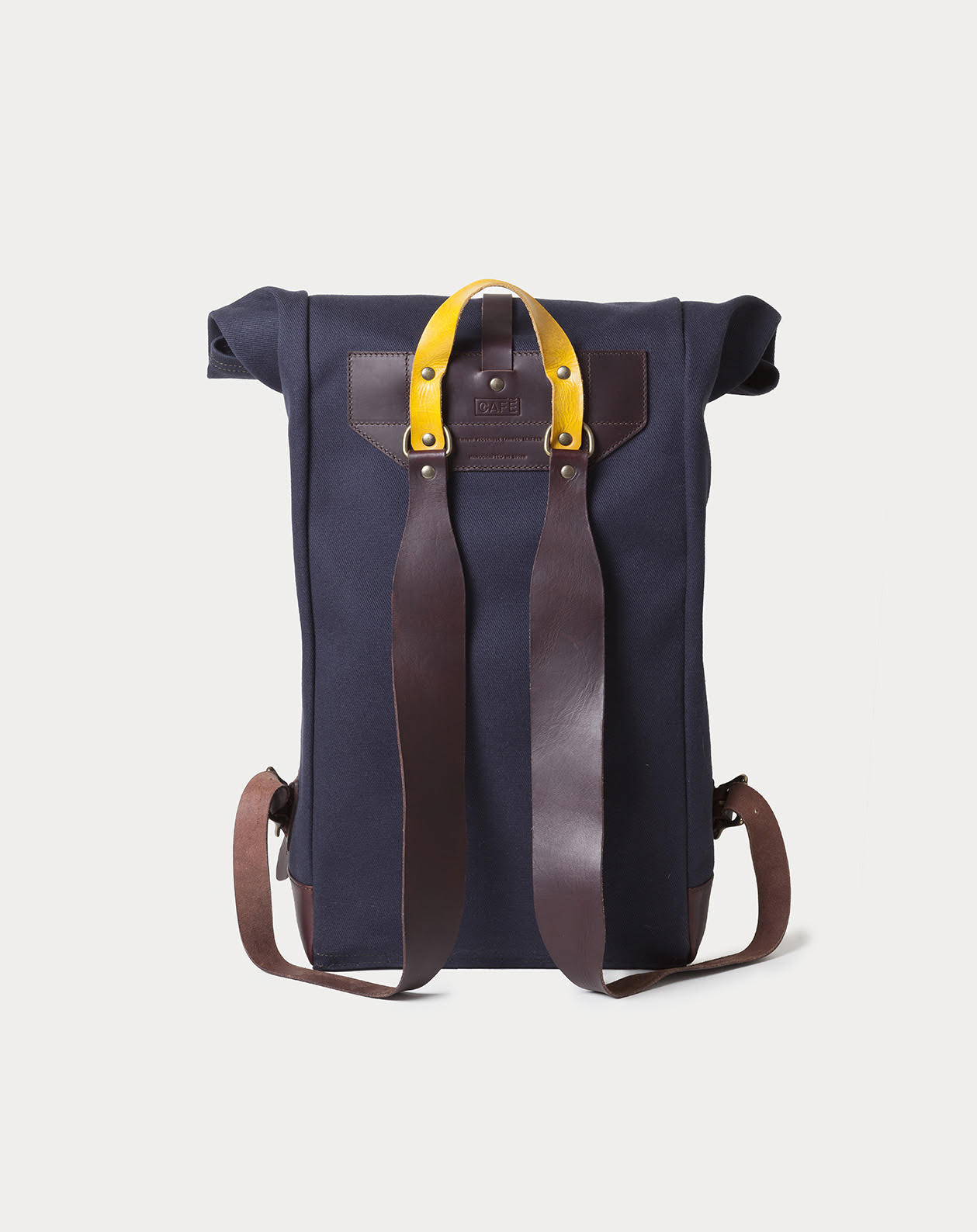 rucksack manufactured in Spain using 18Oz Twill British Millerain canvas and leather