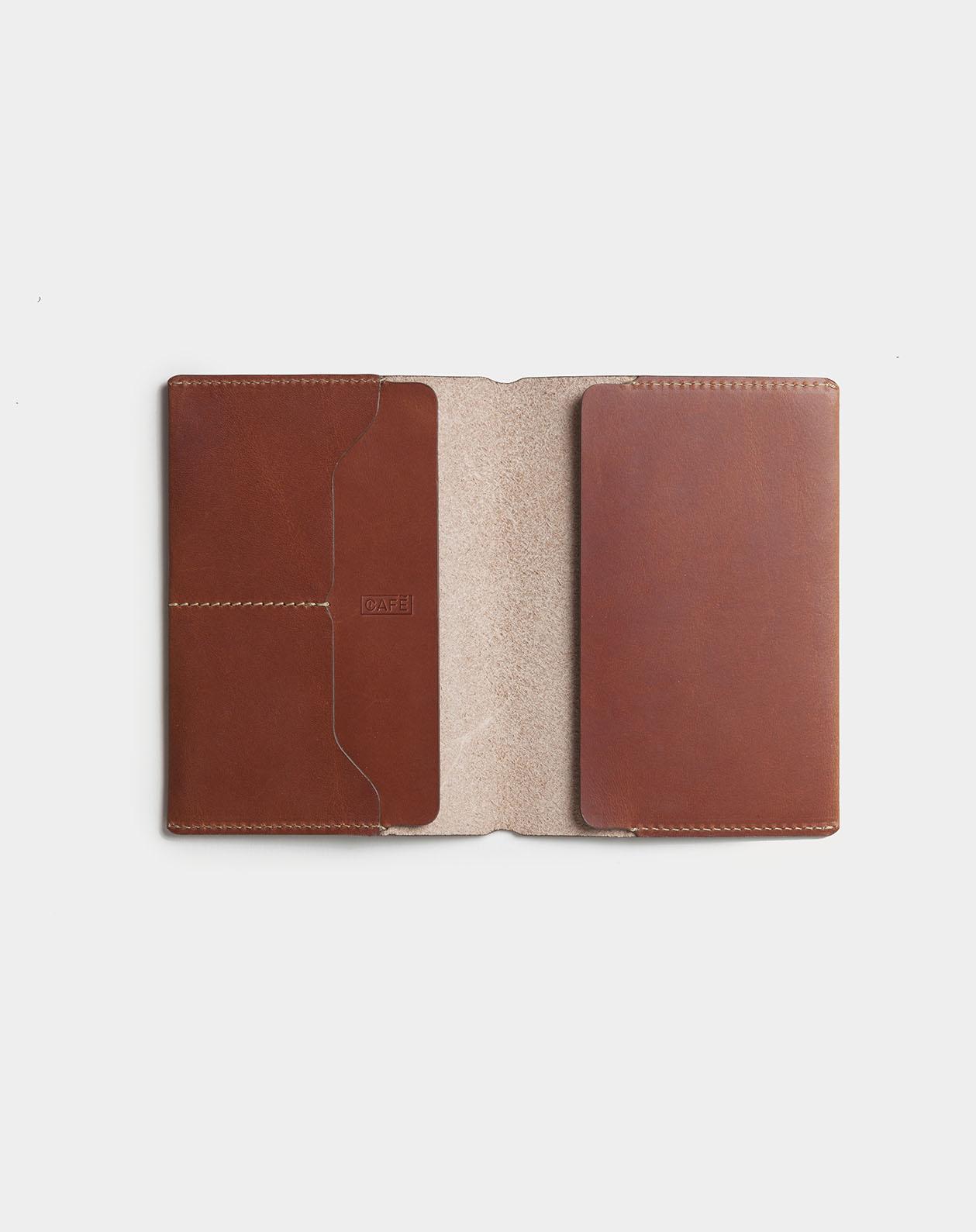 passport wallet open