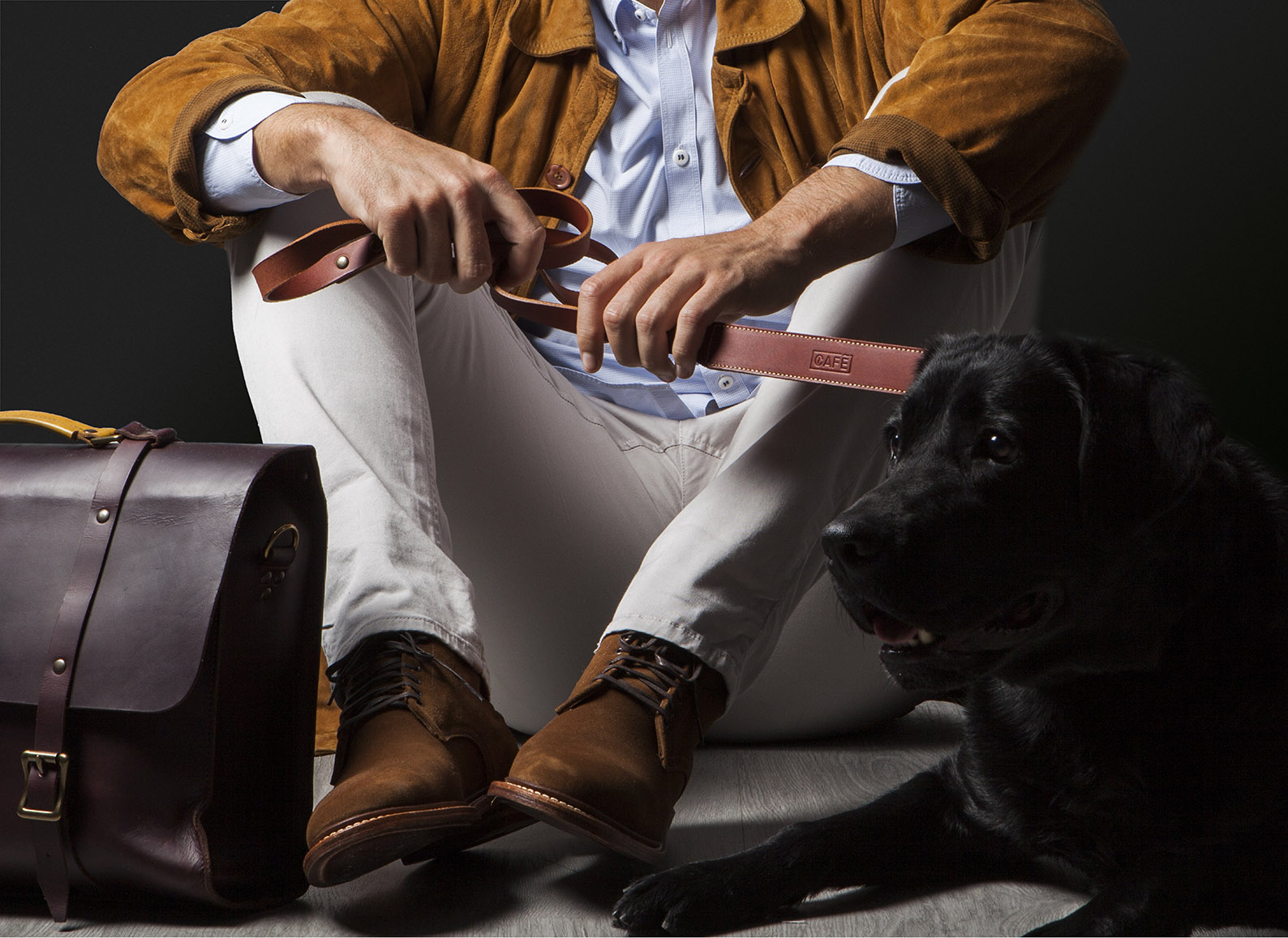 Leather Dog Leash handcrafted in Spain