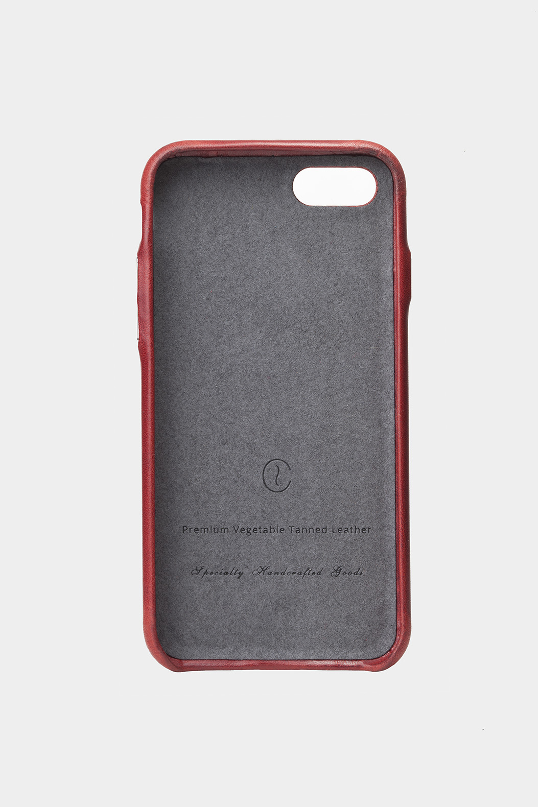 iphone leather case red